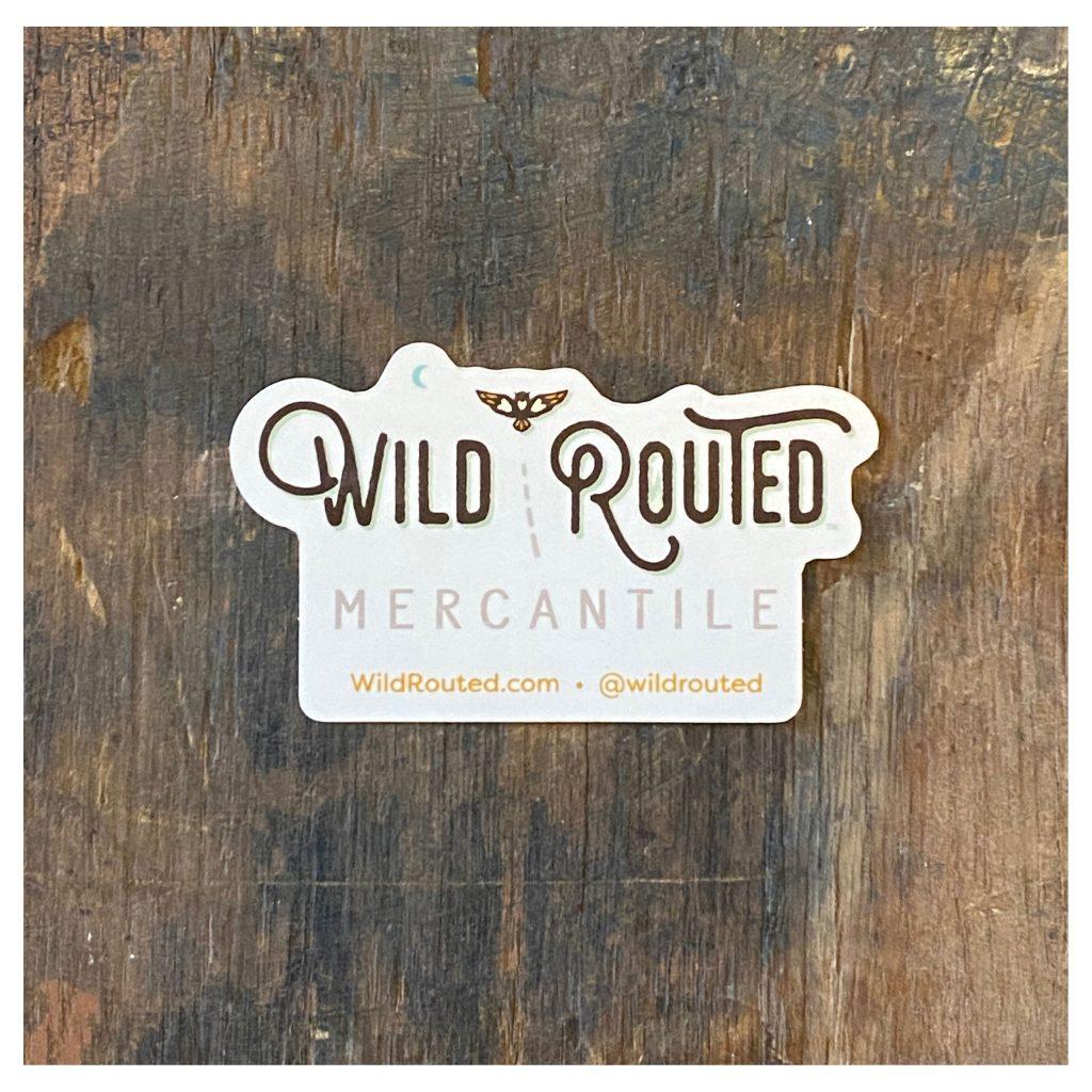 Wild Routed Logo Sticker